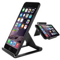 Phone Stand / Holder for desk, foldable (aluminium) for Phones, Tablet PCs & eReader - 2 angles