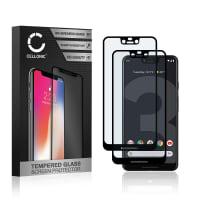 2x Panzerglas Google Pixel 3 XL (3D Case-friendly, 9H, 0,33mm, Edge Glue) Displayschutz Tempered Glass