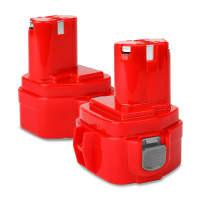 2x Batterie 12V, 3Ah, NiMH pour Makita 6271D, 6270D, 6317D, 8270D, 8271D, 6227D, 6223D - 1222, 1220, 1234, 1235, 1200, 1201 batterie de rechange pour outils électroportatifs