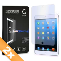 2x Screen protector glass for Apple iPad Mini 4 (A1538) (Crystal clear)