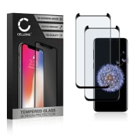 2x Panzerglas Samsung Galaxy S9 Plus (SM-G965) (3D Case-friendly, 9H, 0,33mm, Full Glue) Displayschutz Tempered Glass