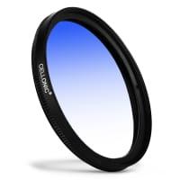 Filtre gradient couleur Bleu pour Fuji Fujinon XF 18mm F2 R / Fujinon XF 35mm F1.4 R Ø 52mm