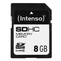 SDHC Memory Card 8GB Class 10 - Intenso