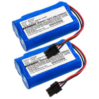 2x Battery 3.7V, 6000mAh, Li-Ion for WOLF-Garten Power 100 - 7086-918 Spare Battery Replacement