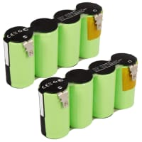 2x Battery 4.8V, 3600mAh, NiMH for Gardena Rasenkantenschere 8802, 8816, 8818 - 8802-00.630.00 Spare Battery Replacement
