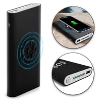 Cellonic® Wireless 2in1 Powerbank 8000mAh para Qi: iPhone X, 8, 8 Plus / Samsung Galaxy S7, S6, Edge, Note 5 / Nokia, Microsoft Lumia 950, 930, 830, 735 (...) - batería externa Banco de la energía del cargador USB Negro