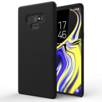 Case Samsung Galaxy Note 9 Silicone Black Cover Backcover