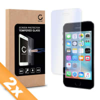 2x Cristal protector de la pantalla para Apple iPhone SE / 5 / 5S / 5C - Tempered Glass (Calidad HD / 2.5D / 0,33mm / 9H)