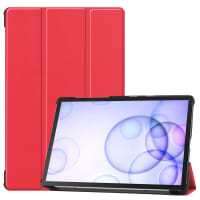 Case for Samsung Galaxy Tab S6 (SM-T860 / SM-T865) - Artificial leather, Red Case