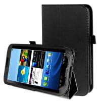 Smart Case voor Samsung Galaxy Tab 3 8.0 (SM-T310 / SM-T311 / SM-T315) - Kunstleer, zwart Tasje Zakje Hoesje
