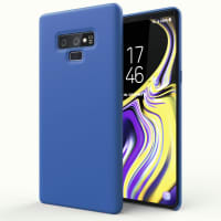 Case Samsung Galaxy Note 9 Cover Backcover Dark Blue Silicone