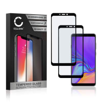 2x Screen protector glass Samsung Galaxy A9 (2018 - SM-A920) (3D Case-friendly, 9H, 0,33mm, Full Glue) Tempered Glass