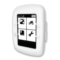 Backcover for Garmin Edge 200 / Edge 500 - Silikon, hvit shell pocket tasker