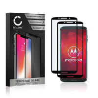 2x Panzerglas Motorola Z3 Play (3D Full Cover, 9H, 0,33mm, Full Glue) Displayschutz Tempered Glass