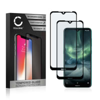 2x Cristal protector de la pantalla Nokia 7.2 (3D Case-friendly, 9H, 0,33mm, Full Glue) Protector pantalla