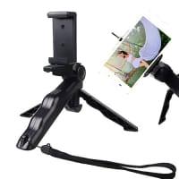 Tripod stand / selfie stick with adjustable ball head + hand holder for mobile phone, photo camera, Monopod