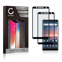 2x Panzerglas Nokia 8 (2017) (3D Full Cover, 9H, 0,33mm, Full Glue) Displayschutz Tempered Glass
