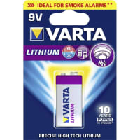 Batterie 9V / E Block Varta Lithium Varta 6122 1x 6F22 / 6LR61 / AM-61
