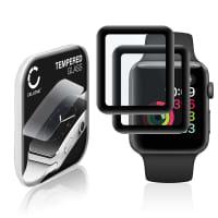 2x Cristal protector de la pantalla Apple Watch 1 / 2 / 3 - 42mm (2.5D, 9H, 0,33mm, Full Glue) Protector pantalla