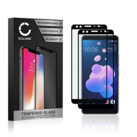 2x Screen protector glass HTC U12 Plus (3D Full Cover, 9H, 0,33mm, Full Glue) Tempered Glass