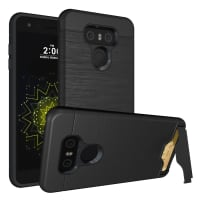 Back Cover for LG G6 - TPU, black Case