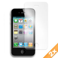 2x Film de protection d'écran (x2) pour Apple iPhone 4 / iPhone 4S (transparent)