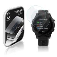 2x Screen protector glass Garmin Forerunner 935 (2.5D, 9H, 0,33mm, Full Glue) Tempered Glass