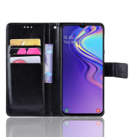 Case for Samsung Galaxy M20 (SM-M205) - PU Leather, Black Case