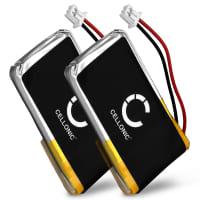 2x Batterij voor Plantronics CS50 CS510 CS520 C55 CS65 CS351N CS361N, Plantronics Savi 720 Savi 710 Savi 420, Plantronics HL10, Plantronics W720 W710, Avaya AWH-55 AWH-65 - 65358-01,64399-03,202599-03 (240mAh) vervangende accu