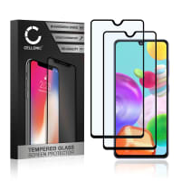 2x Näytönsuojat Lasi Samsung Galaxy A41 (SM-A415) (3D Case-friendly, 9H, 0,33mm, Full Glue) Tempered Glass