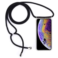 Smartphone necklace for iPhone 11 Pro - Silicone, Crystal Clear Case