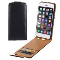 Flip Cover para Apple iPhone 6 Plus / 6s Plus - Cuero artificial, negro Funda