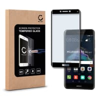 Screen protector glass for Huawei P8 Lite (2017) - Tempered Glass (HD-Quality / 3D Full Cover / 0,33mm / 9H)