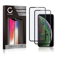 Protection d'écran en verre [2x] iPhone XS (3D Full Cover, 9H, 0,33mm, Full Glue) Verre trempé