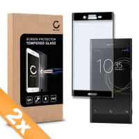2x Panzerglas für Sony Xperia XZs - Tempered Glass (HD-Qualität / 3D Full Cover / 0,33mm / 9H)