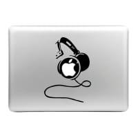 Sticker MacBook Cascos Calcomanía Vinilo | Sticker Portátil para MacBook Air, Pro, 11