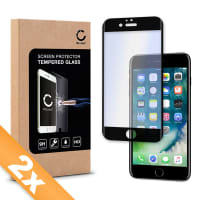 2x Displaybeschermglas voor iPhone 7 (A1660 / A1778 / A1779) - Tempered Glass (HD kwaliteit / 3D Full Cover / 0,33mm / 9H)
