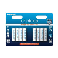 Piles batteries AA Panasonic eneloop BK-3MCC (Mignon, R6, LR6, HR6) 8x