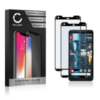 2x Displaybeschermglas Google Pixel 2 XL (3D Full Cover, 9H, 0,33mm, Edge Glue) Tempered Glass
