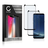 2x Screen protector glass Samsung Galaxy S8 (SM-G950 / SM-G950F) (3D Case-friendly, 9H, 0,33mm, Full Glue) Tempered Glass