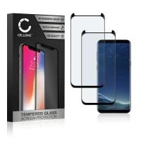 2x Protection d'écran en verre Samsung Galaxy S8 (SM-G950 / SM-G950F) (3D Case-friendly, 9H, 0,33mm, Full Glue) Verre trempé