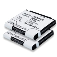 2x Battery for Samsung RMC30C1, RMC30C2 - AB603443AA, AB603443AASTD, AB603443CA, AB603443CABSTD, AB653443CAB, AB653443CE (1000mAh) Spare Battery Replacement