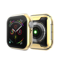 Case for Apple Watch 5 / 4 - 44mm - TPU, Transparent / Golden Case