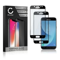 2x Screen protector glass Samsung Galaxy J5 DUOS (2017 - SM-J530) (3D Full Cover, 9H, 0,33mm, Full Glue) Tempered Glass