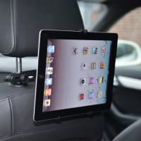 Tablet / eBook 360° car bracket on windshield (7