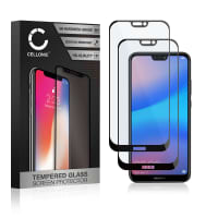 2x Protection d'écran en verre Huawei P20 Lite (3D Full Cover, 9H, 0,33mm, Full Glue) Verre trempé