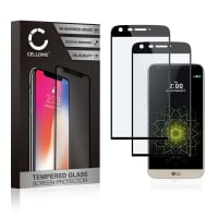 Displaybeschermglas [2x] LG G5 (3D Full Cover, 9H, 0,33mm, Full Glue) Tempered Glass