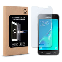 Displaybeschermglas voor Samsung Galaxy J1 (2016 / SM-J120) - Tempered Glass (HD kwaliteit / 2.5D / 0,33mm / 9H)