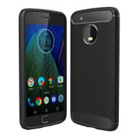 Back Cover voor Motorola / Lenovo Moto G5 Plus - TPU, zwart Tasje Zakje Hoesje