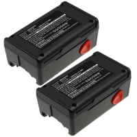 2x Battery 18V, 1500mAh, NiMH for Gardena EasyCut 42 Accu, Turbotrimmer SmallCut 300 Accu, 648844, 648872 - 8834-20 (2x) Spare Battery Replacement